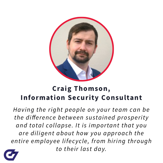 Craig Thomson, security consultant