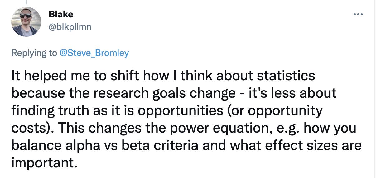 Blakes Tweet about Games User Research - linked below