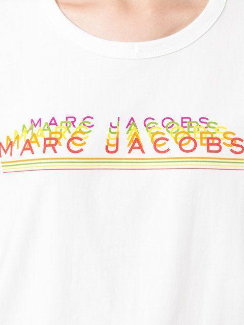 Shop Marc Jacobs repeated log print T-shirt. | T shirt, Text tee, Shirts