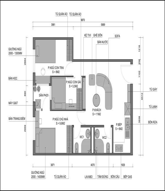 Mỗi thiết kế nội thất, thi công cùng vật liệu khác nhau sẽ quyết định mức chi phí