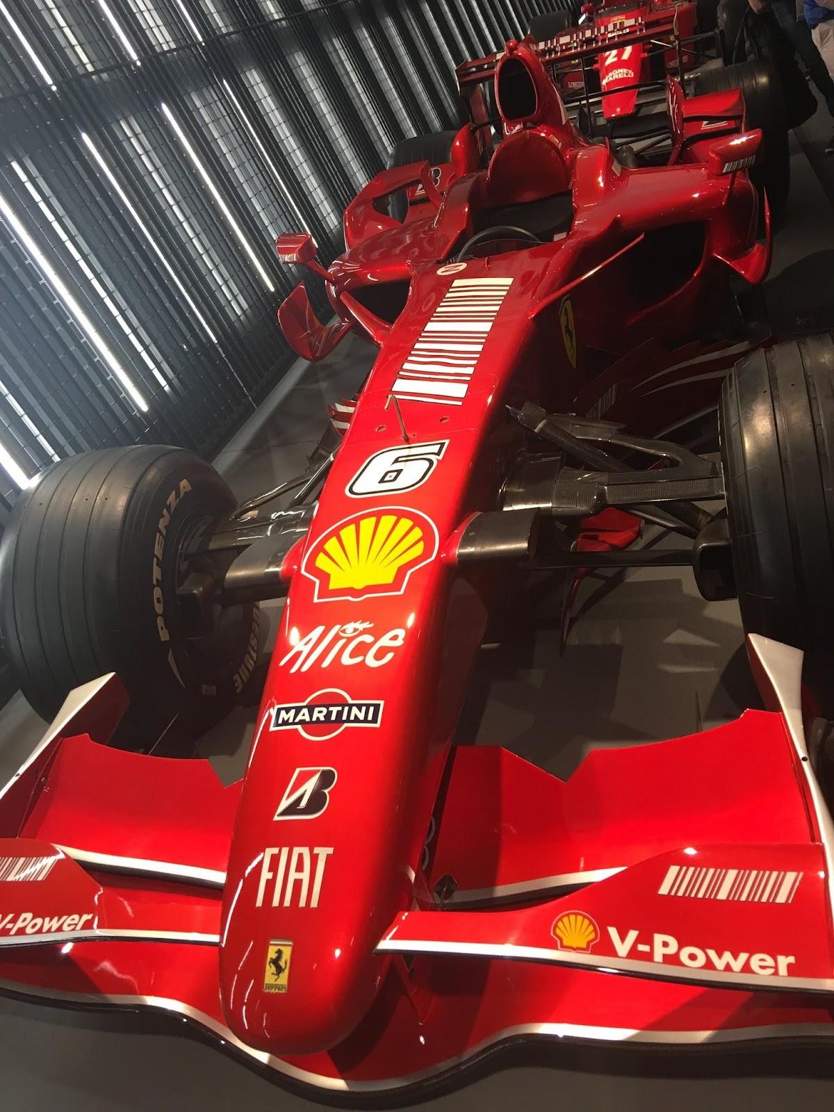 Kimi Raikkonen's ferrari formula 1 car