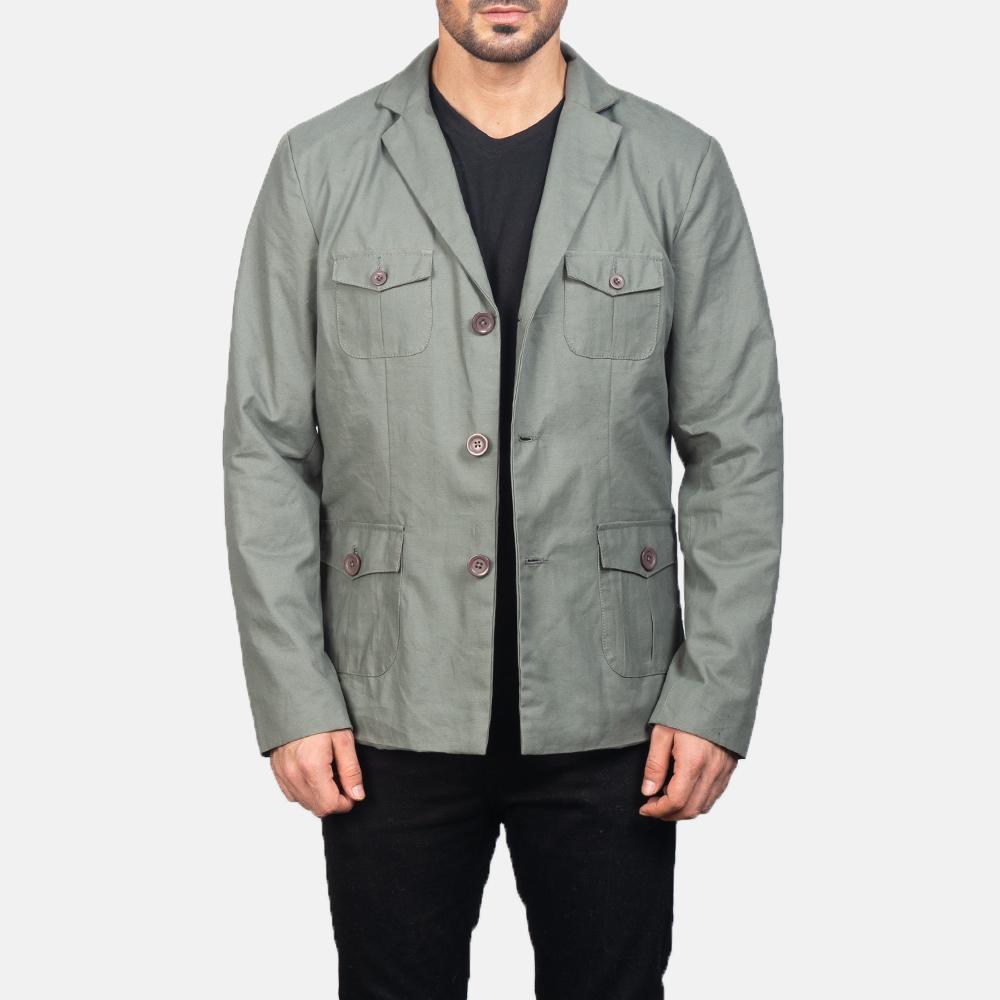 Kajetan Grey Safari Jacket