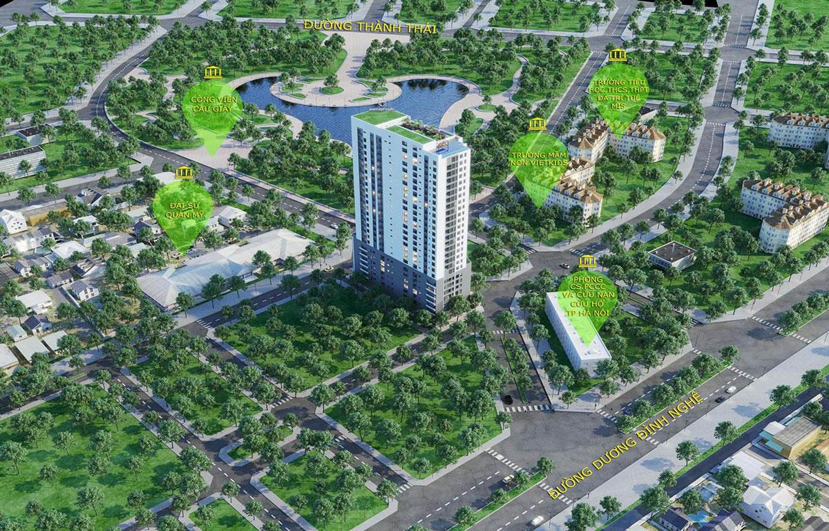 Những dự án nhà ở xã hội Cầu Giấy được rất nhiều nhà đầu tư quan tâm