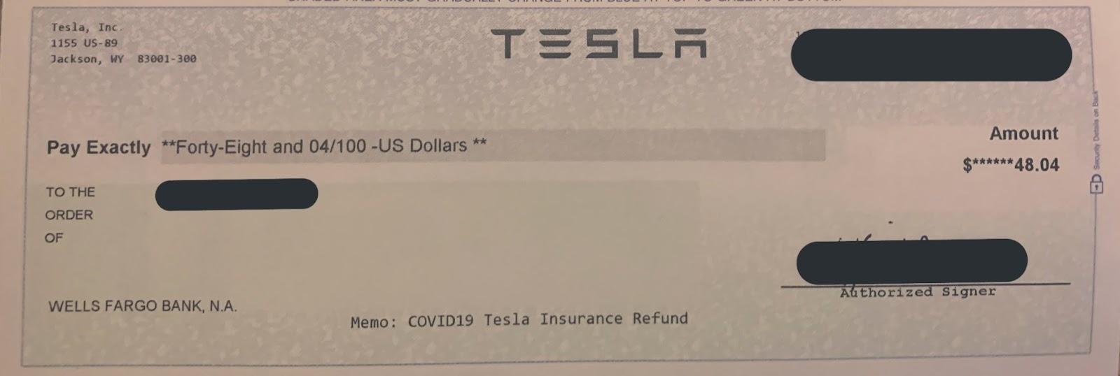 Tesla assurance