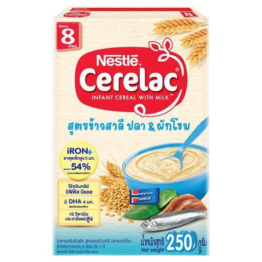 5. Nestle Cerelac อาหารเสริมธัญพืชสำหรับเด็กอายุ 8 เดือนขึ้นไป