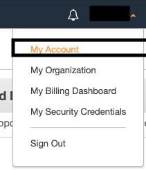 choose your account name (or alias)
