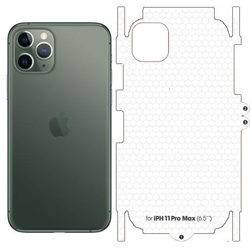 Miếng Dán PPF Full Viền Mặt sau cho iPhone 11 Pro Max