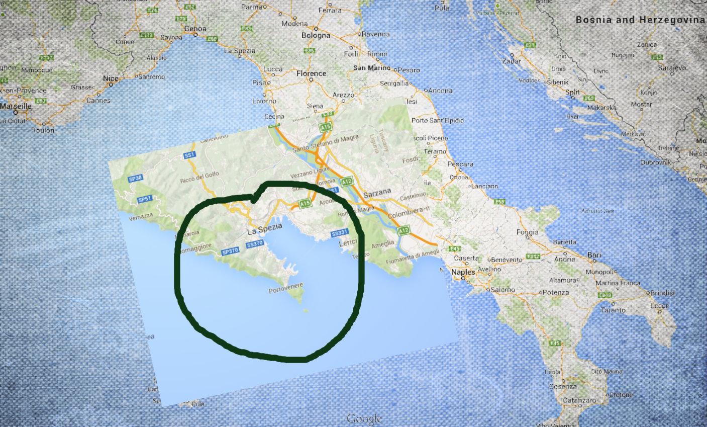 approximate location of Portovergogna