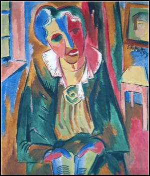 Karl Schmidt-Rottluff (1884-1976)  Bildnis Rosa Schapire (Dr Rosa Schapire)