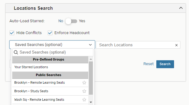 25Live Location Search Fields