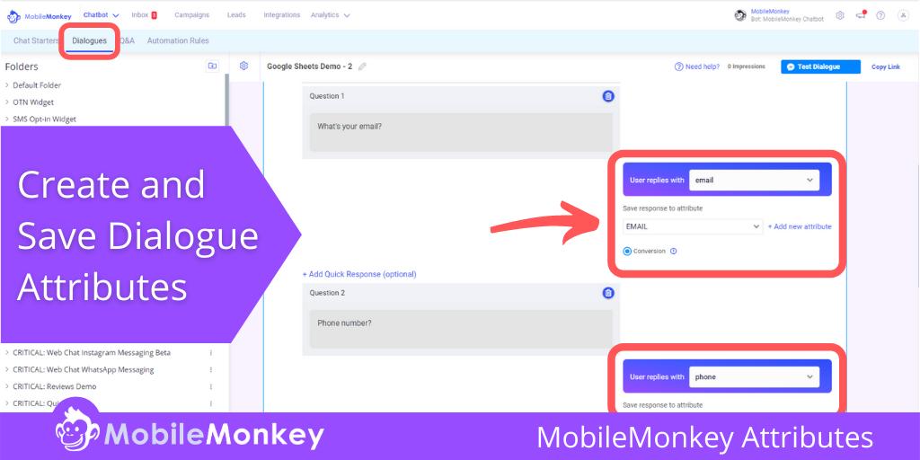 MobileMonkey Attributes