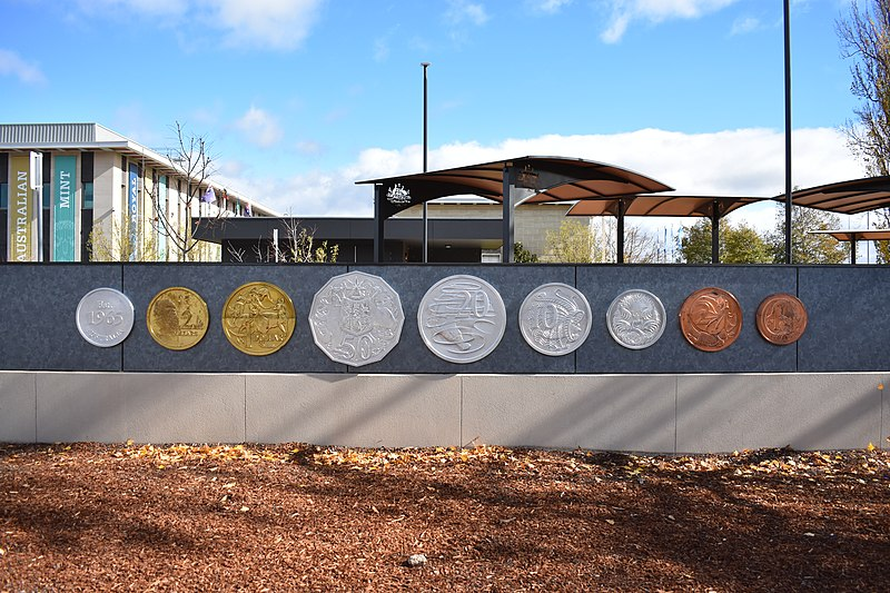 The Big Coins in Deakin represent the story of the evolution of trade in Australia. Here's all you need to know.