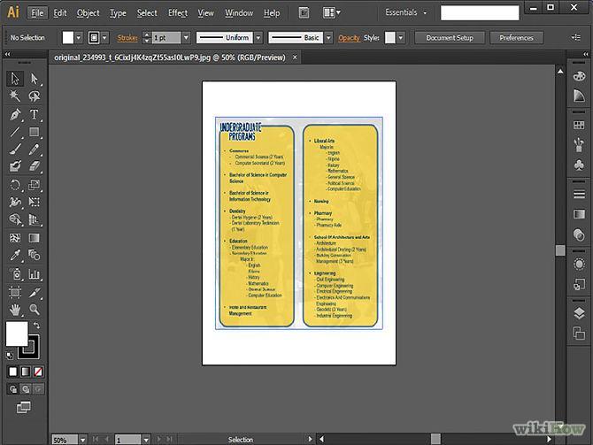 Adobe Illustrator software for flyers