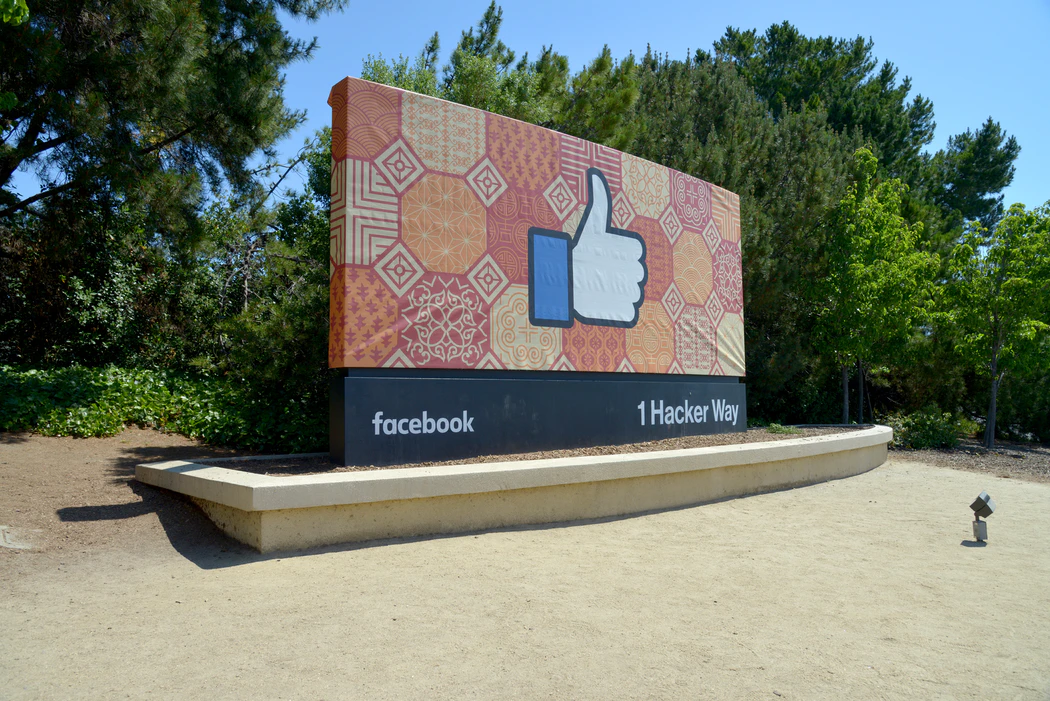Sign for 1 Hacker Way, Facebook's corporate HQ