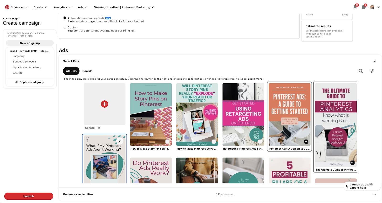 Pinterest search ads