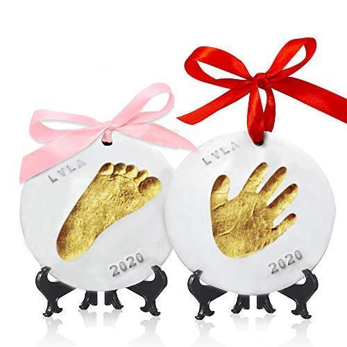 Baby Hand and Foot Print Kits-- Keababies Baby Ornament – Keepsake Ki