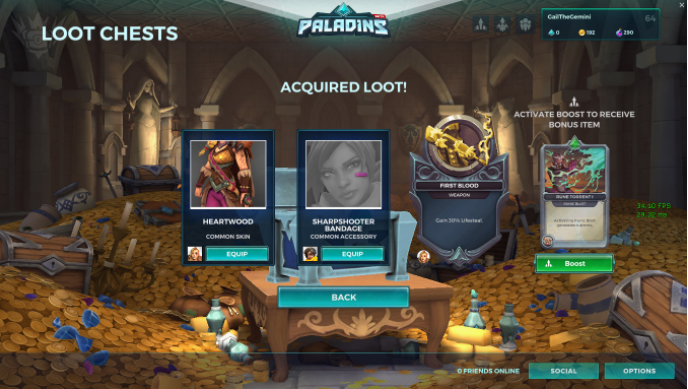 Get radiant chests using Paladins codes
