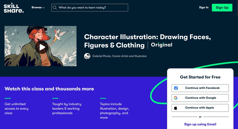 Character Illustration: Drawing Faces, Figures & Clothing is a 60-minute class that shows you how to create appealing characters on paper or screen.