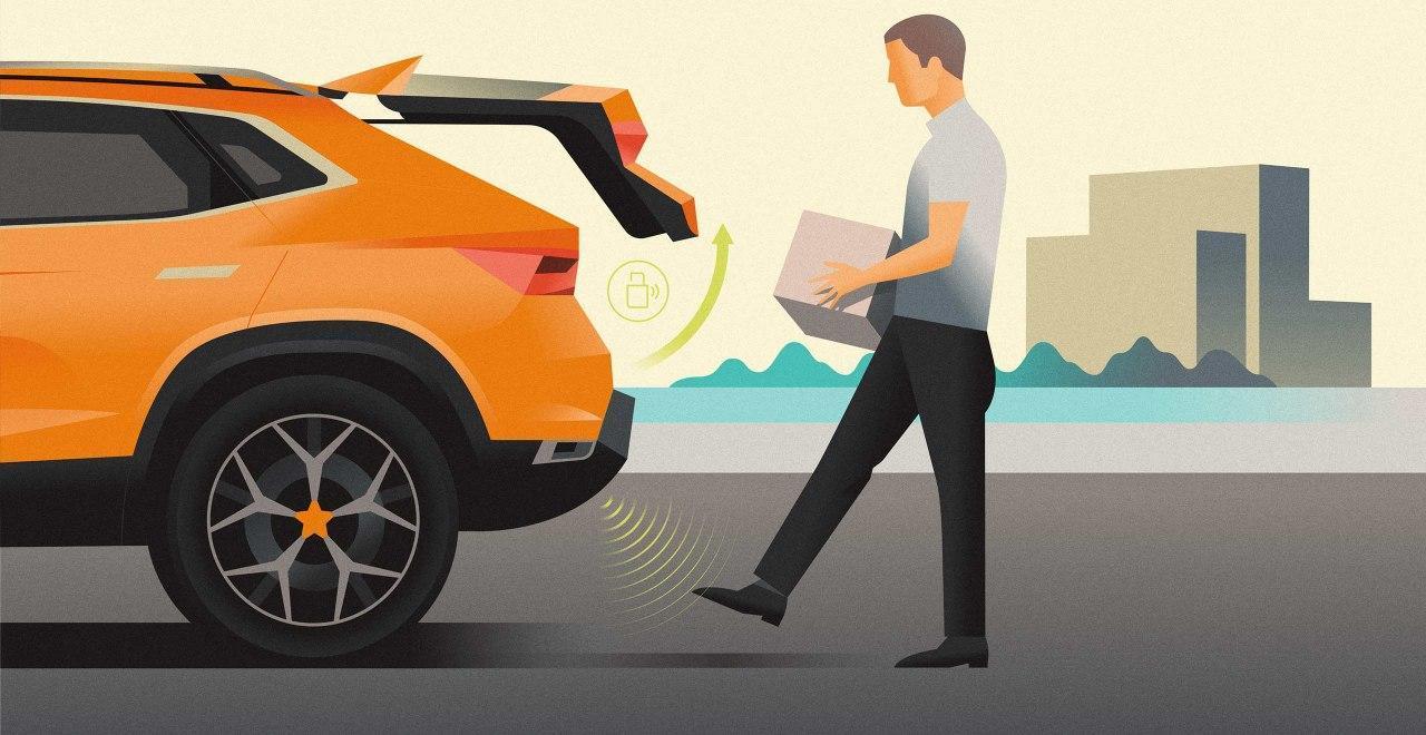 Pedal virtual para abrir el portón trasero del SEAT Alhambra