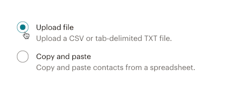 El cursor hace clic - Subir archivo - Importar
