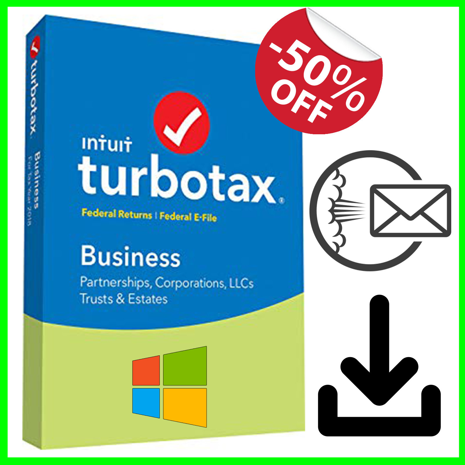 Details about TurboTax Business 2018 Edition Email Delivery [ Windows Only ]