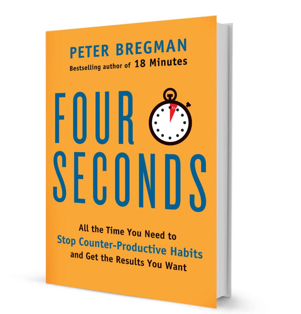 """Обкладинка книжки Пітера Брегмана """"Правило чотирьох секунд"""""""