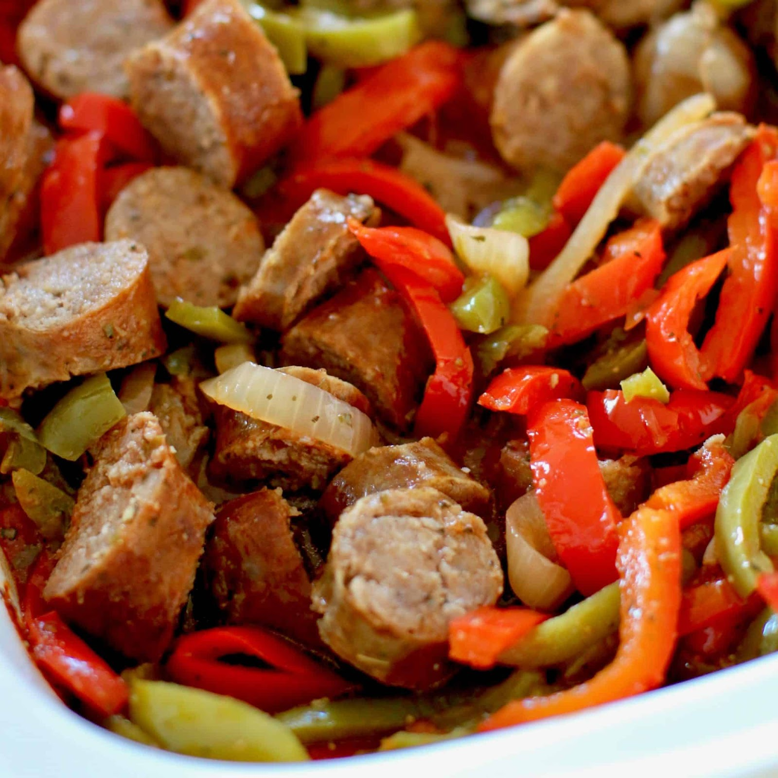 Image result for sausage and peppers