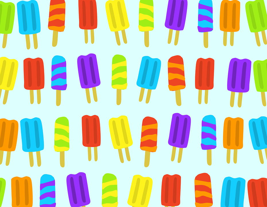 Clipart, Pattern, Popsicle