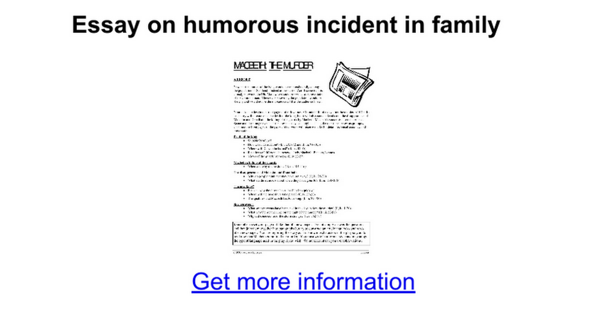 essay on humorous incident in family google docs