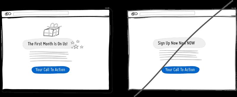 Подарок вместо просьбы о подписке