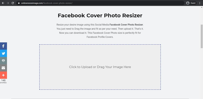 image resizer & editor landing page