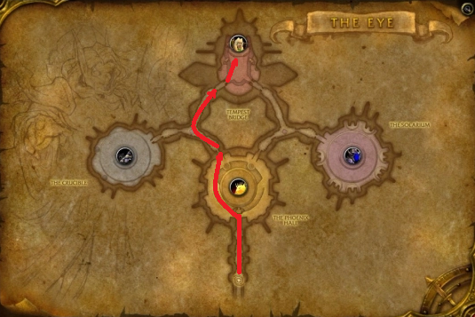 Path to Kael'thas Sunstrider. The boss that drops Ashes of Al'ar