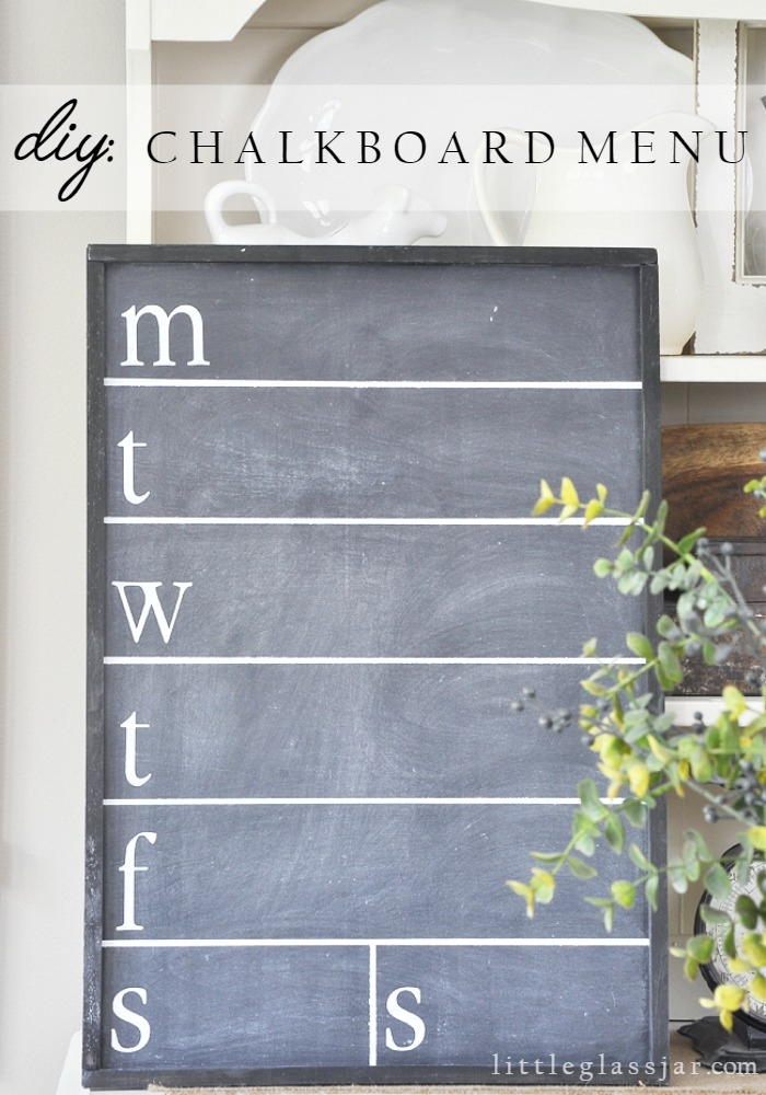 Chalkboard Menu: These 50 Cheap & Easy Farmhouse Decor Ideas will help you save money and transform your space.