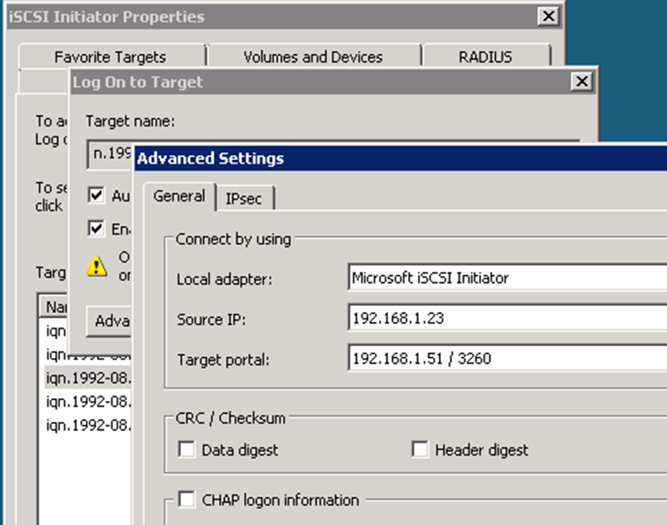 iSCSI Configuration In Windows Netapp Cluster Mode