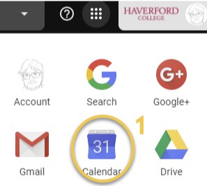 a screenshot showing Google calendar icon