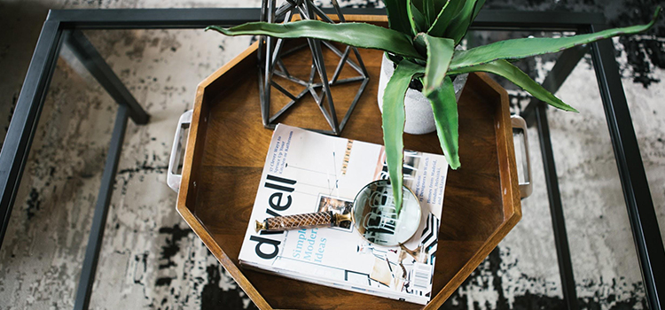 Wooden Tray Table Plant