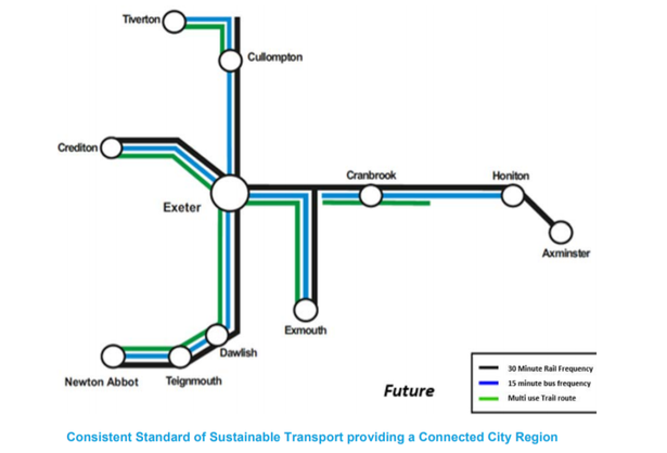 The Consistent Standard of Sustainable Transport providing a Connected City Region across Exeter