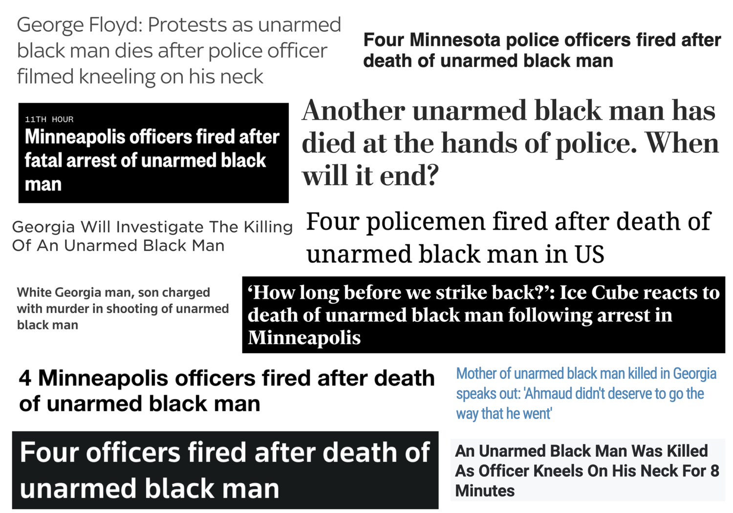 The Importance of Language: Violence against Black Lives and White Supremacy