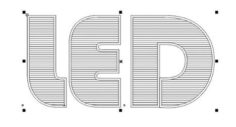 kết quả Nới rộng nét chữ LED ra một chút