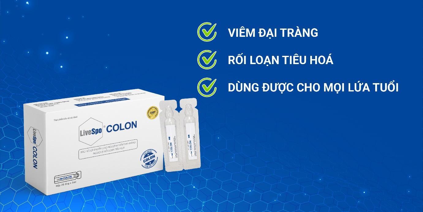 LiveSpo Colon - Bào tử lợi khuẩn dành cho người viêm đại tràng - Ảnh 3