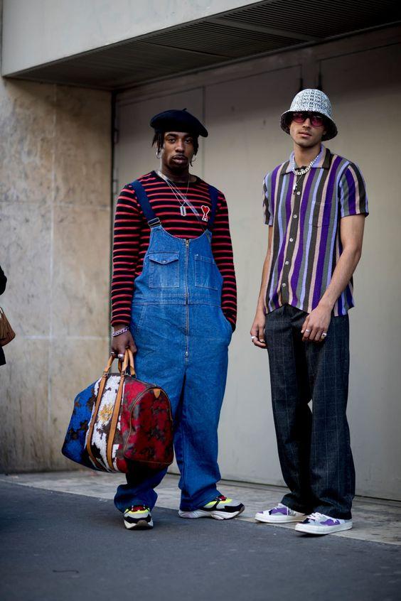 men in unisex clothes