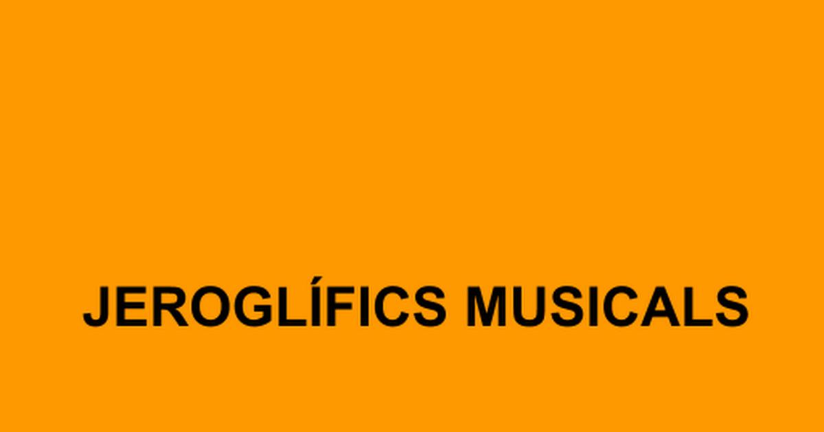 Jeroglífics - Google Slides