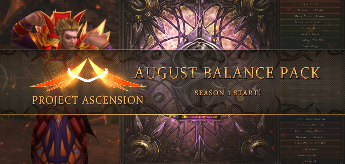 Ascension Classless WoW Servers