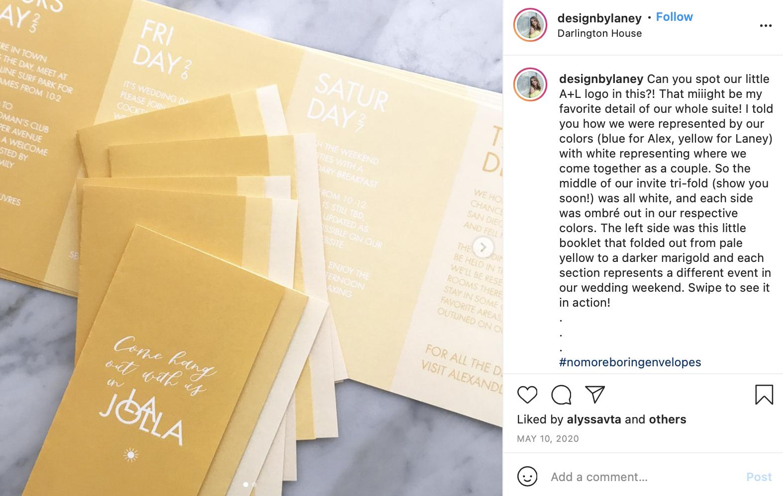yellow gradient wedding programs