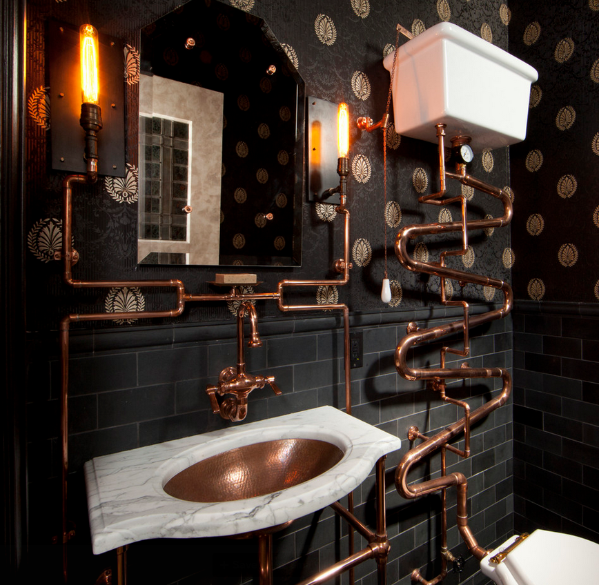 Decorating your space with steampunk style hotpads blog - Economic bathroom designs ...