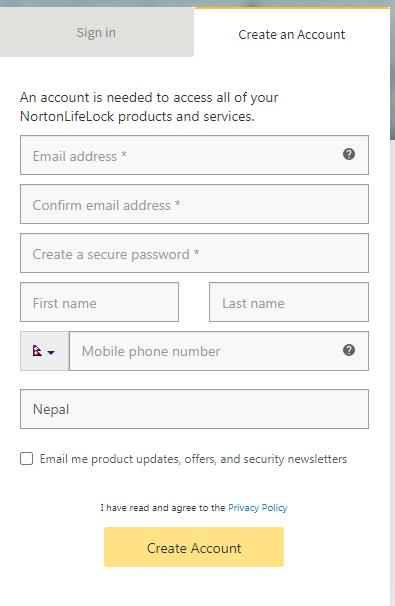 Norton VPN Personal Information