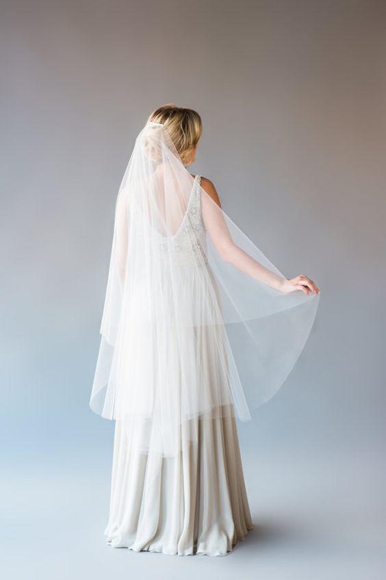 medium bridal veil