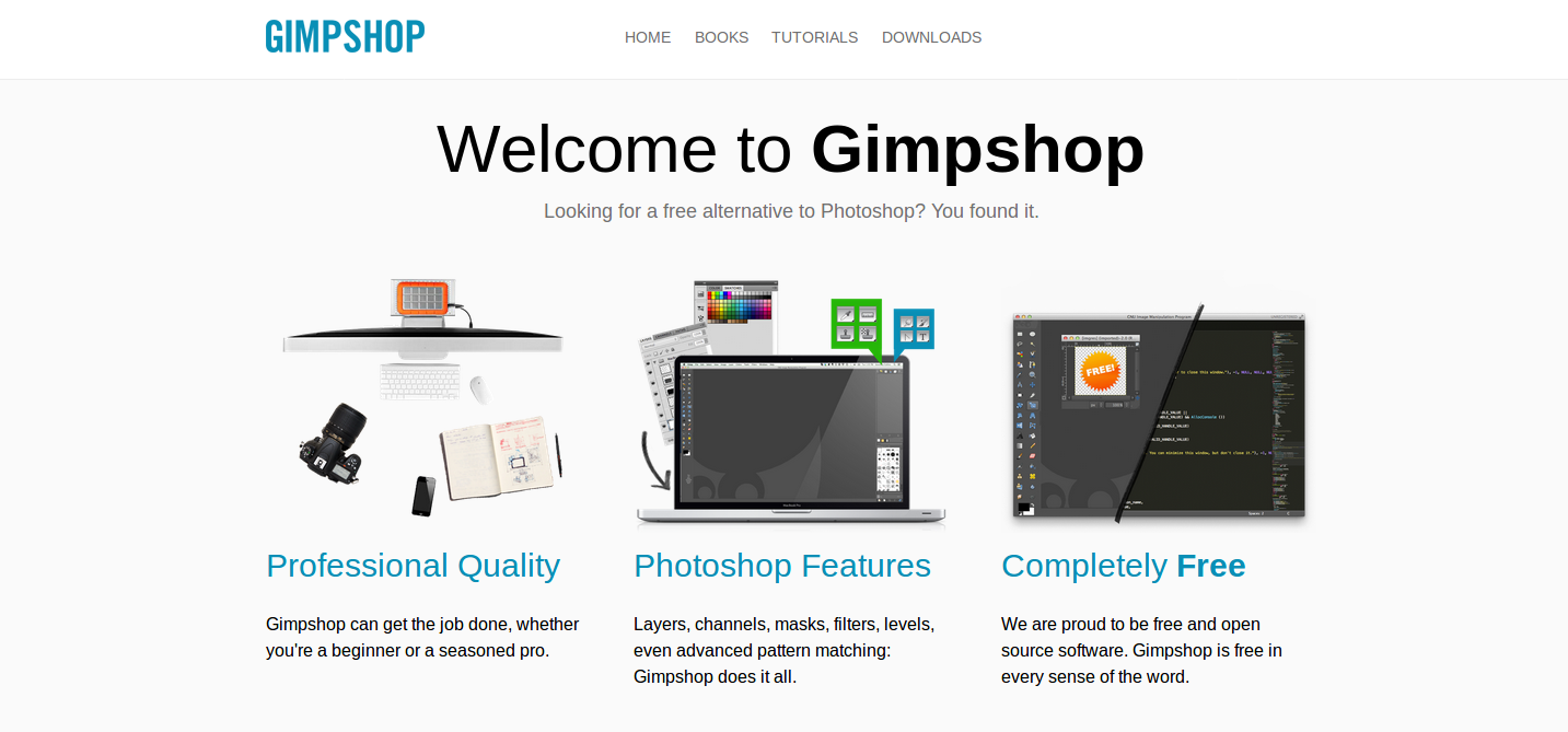 gimpshop editing software