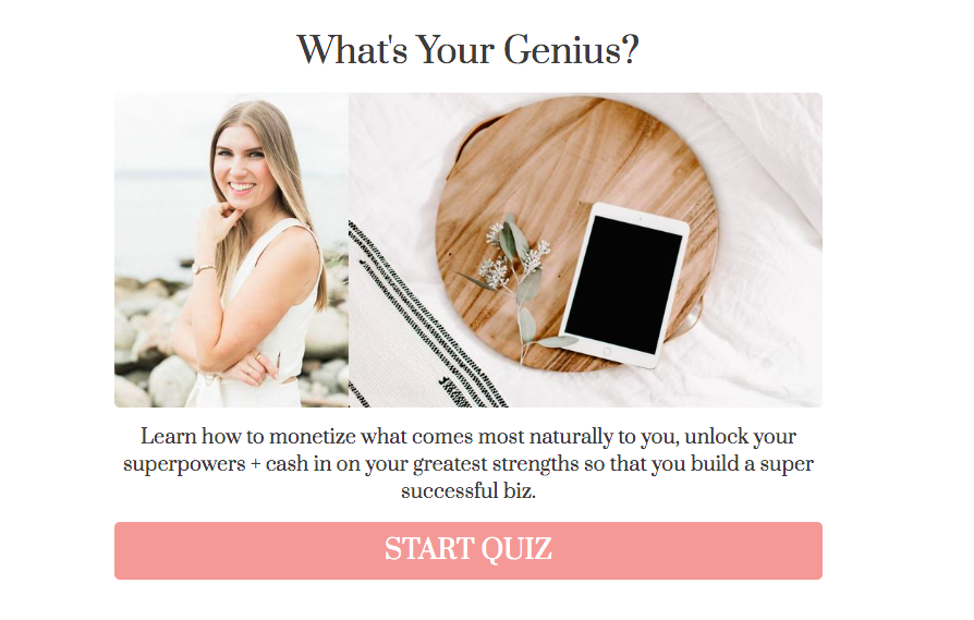 what's your genius quiz for coaching business