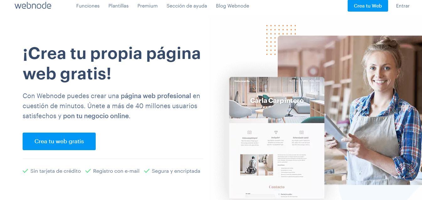 Crear un blog gratis - Webnode